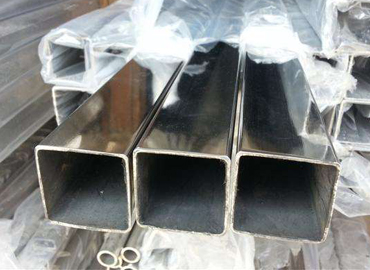 The production process of 304 stainless steel square tube in China